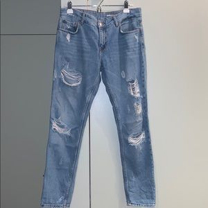 Distressed Relaxed For Jeans by Zara